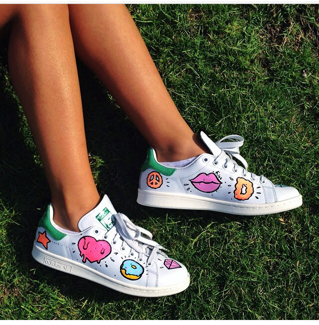 Custom Adidas stan smith,unicorn,rainbow,custom sneakers