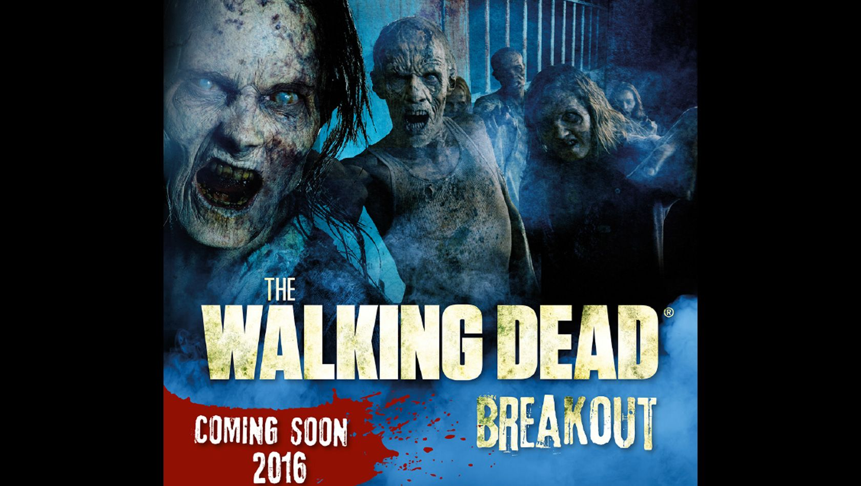 """The Walking Dead Breakout"" im Movie Park Germany wird dauerhafte Horror-Attraktion - mit Live-Erschreckern auf 700 m²: Details: http://www.parkerlebnis.de/the-walking-dead-breaktout-movie-park-germany-2016-ankuendigung_20267.html"