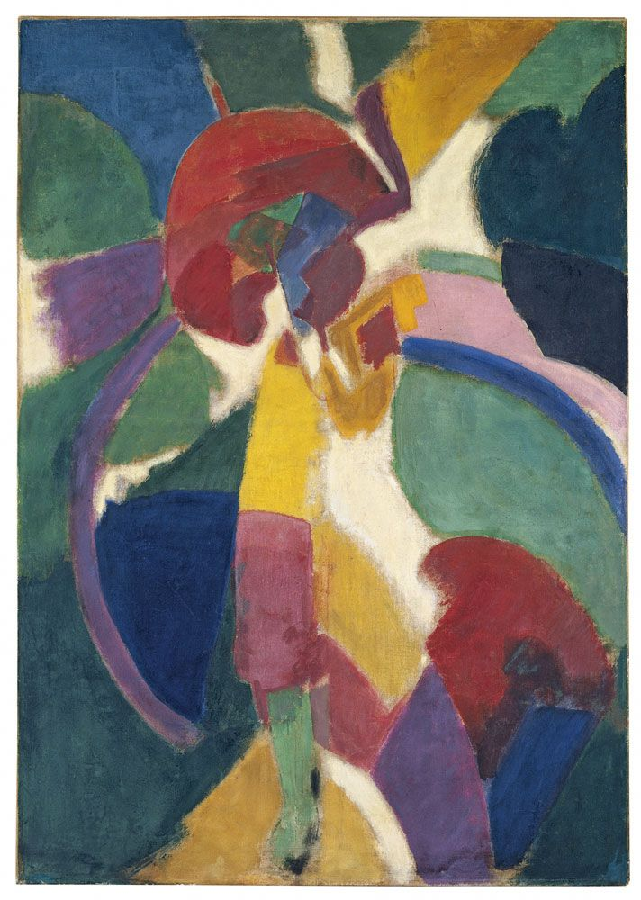 Robert Delaunay (French, 1885-1941), Woman with a Parasol, 1913. Oil on canvas, 121 x 85 cm.
