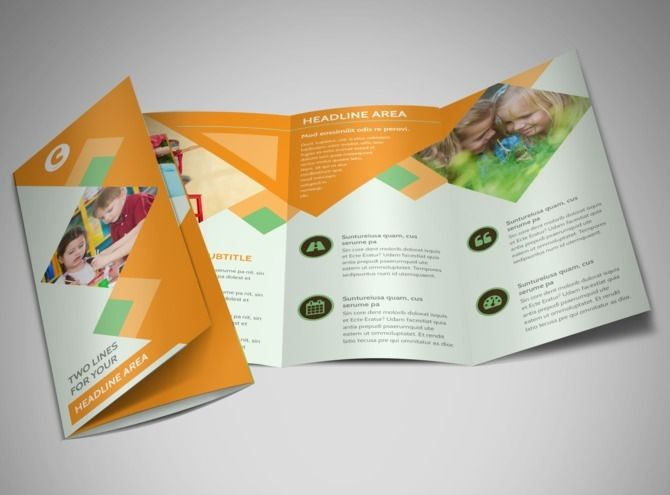 preschool kids day care brochure template