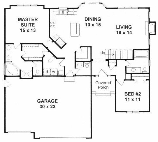 Plan No.357831 House Plans nice! Laundry connected to master ... on