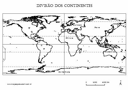 Mapa Mundi Com Divisao Dos Continentes Para Colorir Mapa Mundi