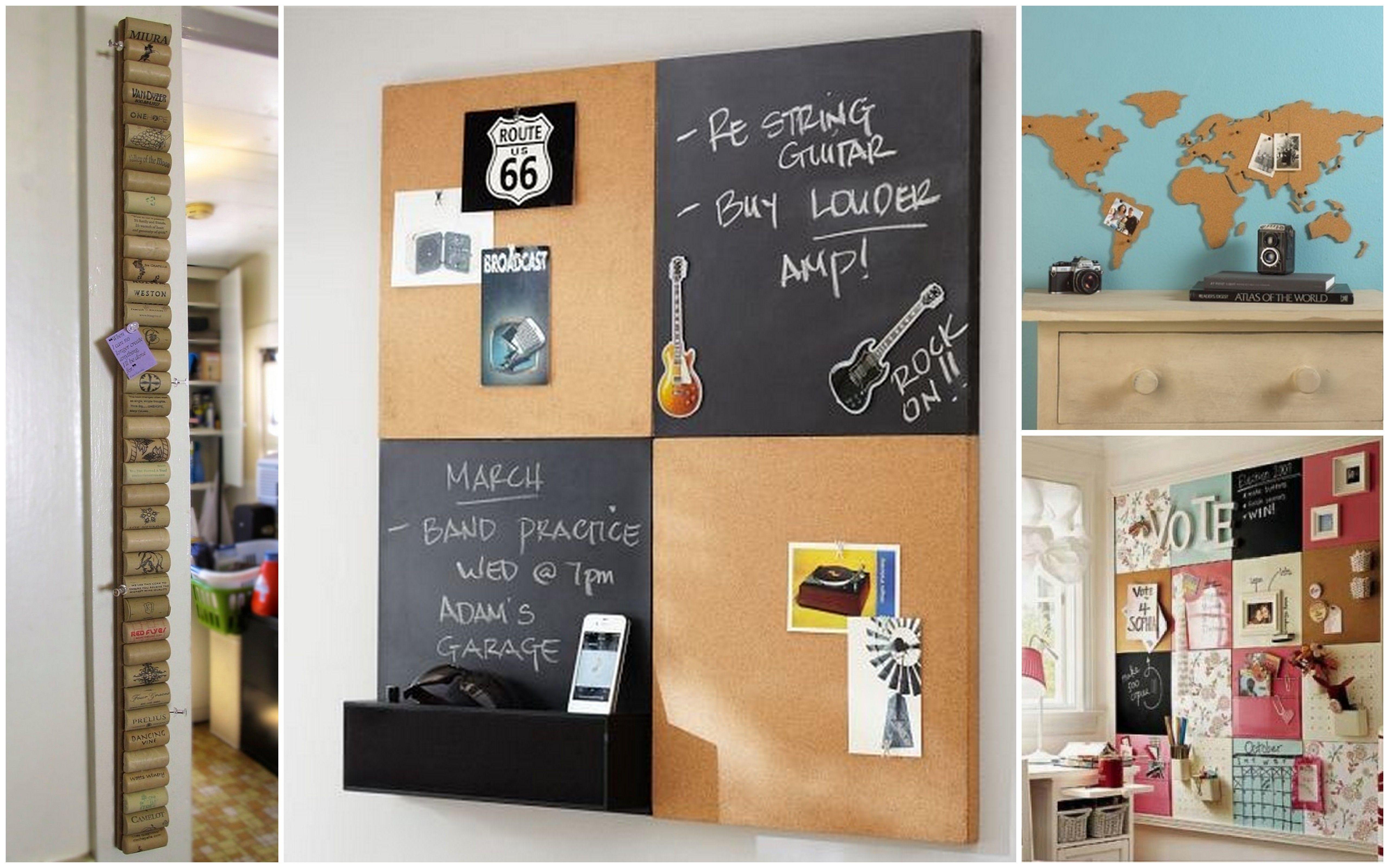 Ideas decordativas: Corcho + pizarra Corcho con formas | Pizarra de corcho,  Pizarron de corcho, Tableros de anuncios