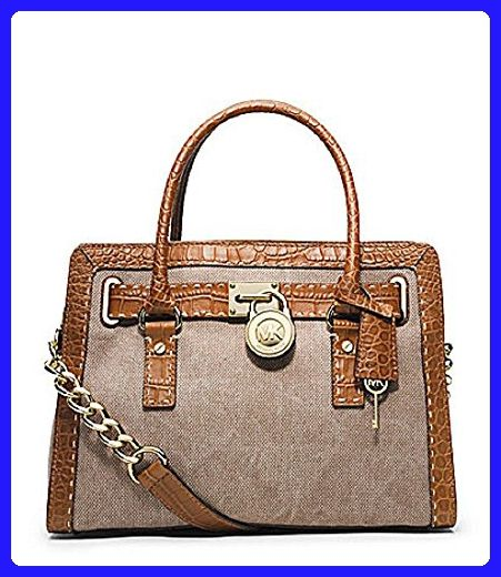 a62c4474fd8a Michael Kors Hamilton Pick Stitch Hemp Brown Canvas EW East West Satchel -  Satchels ( Amazon Partner-Link)