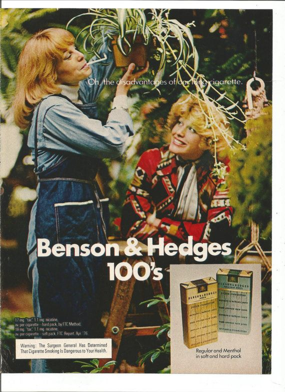 Benson & Hedges / Oh the disadvantages of our long cigarette (1975)