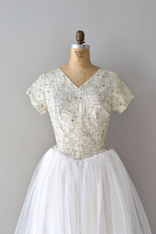 Mais Oui wedding gown | vintage 50s wedding dress • tulle 1950s ...