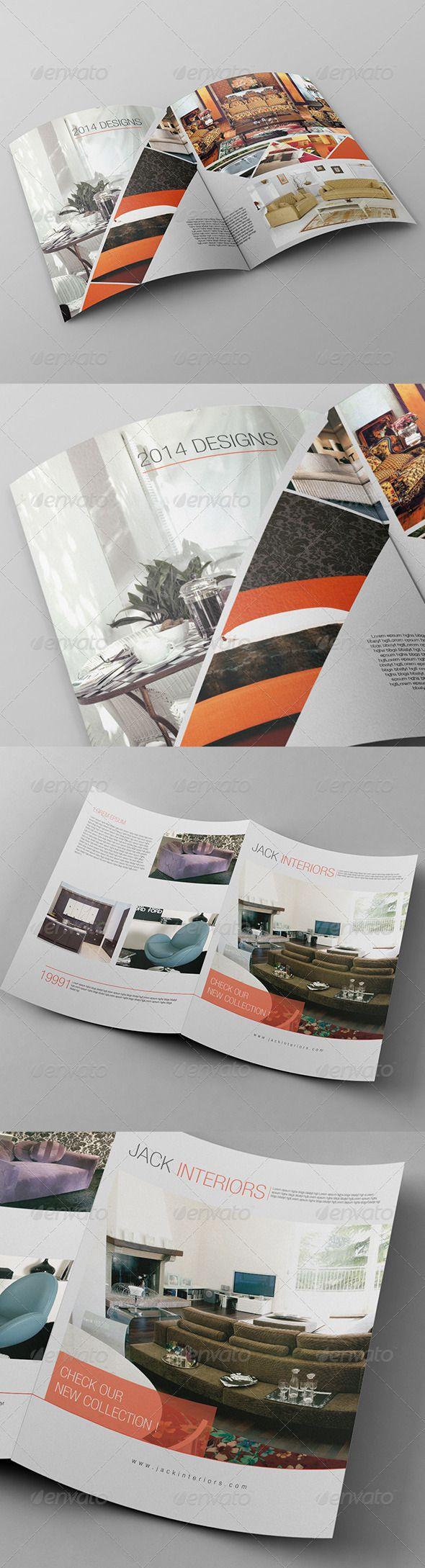 Bi-Fold Brochure Template   Adobe Photoshop, Haus Innenräume und ...