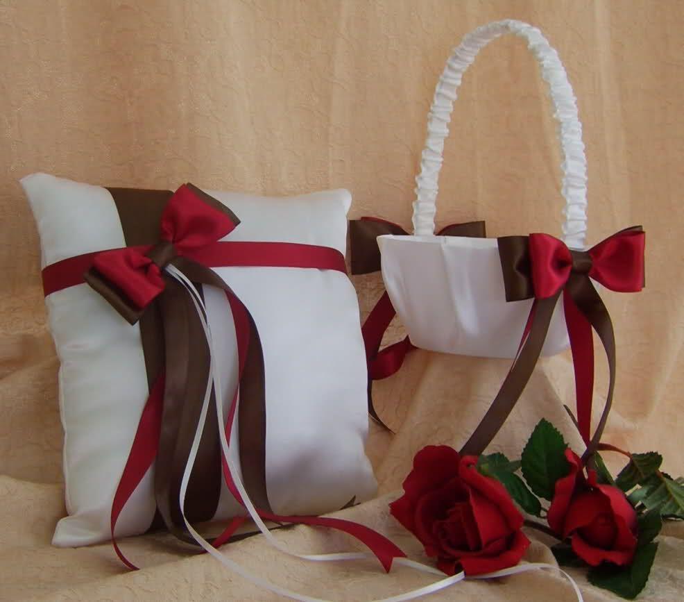 Flower girl basket and ring bearer pillow!