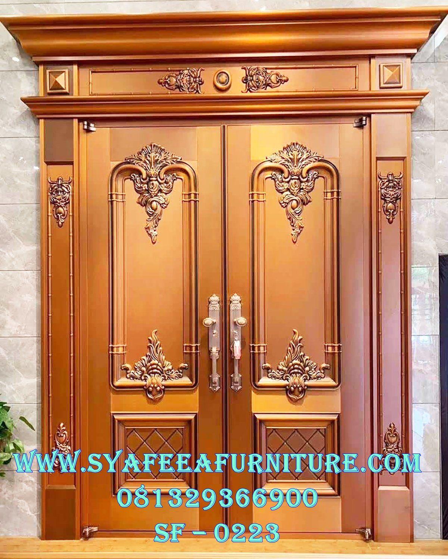 Daun Pintu Mewah Ukiran Jepara Kusen Pintu Jati Klasik Pintu Ukiran Kayu Kayu Gambar daun pintu