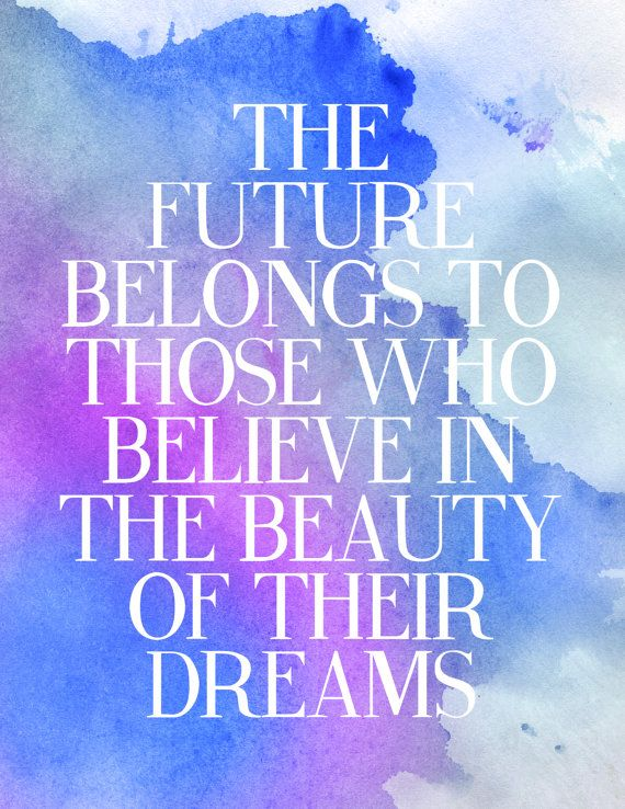 Dream Discover Travel Inspirational Quote Print Blue Watercolour Poster
