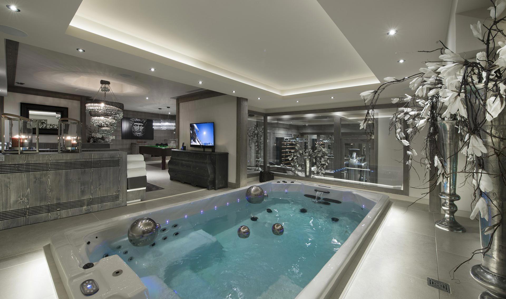 Afficher L Image D Origine House Villa Pool Indoor