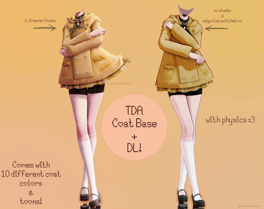 Tda Coat Base Dl By Annafaust Mmd Models Character