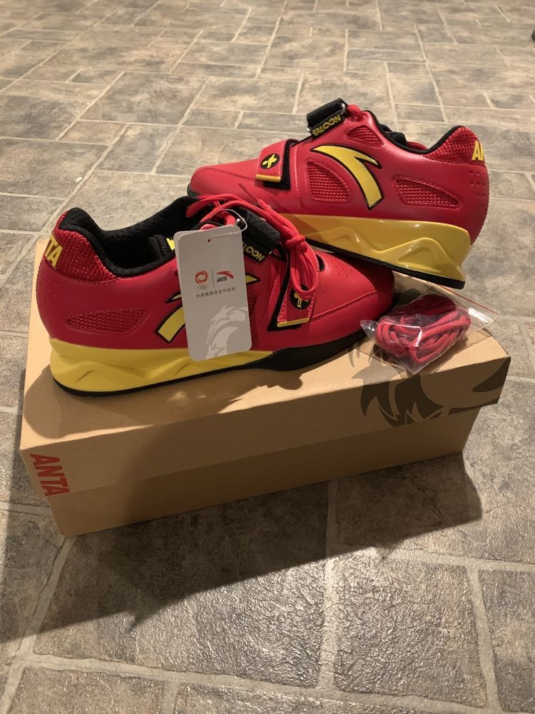 63d80831cec0 NEW Rare Limited Edition Anta Chinese Olympic Weightlifting shoes Size 10  Mens