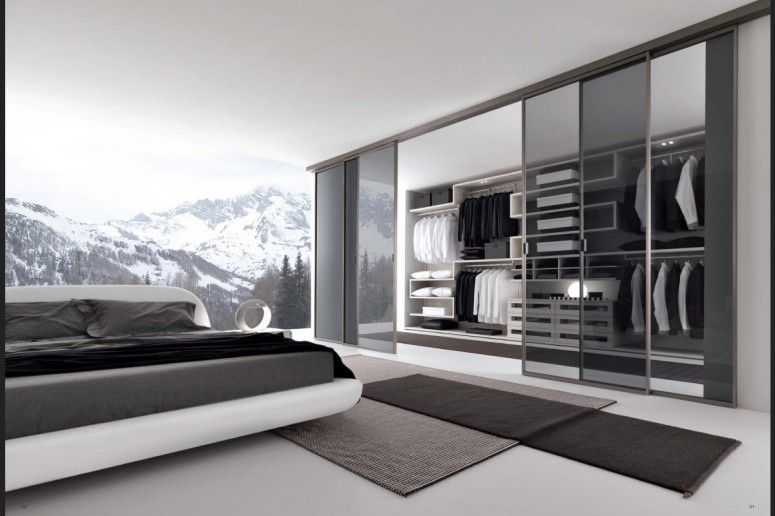 Closet In Bedroom Decor Property closet and wardrobe designs. modern grey bedroom walkin closet