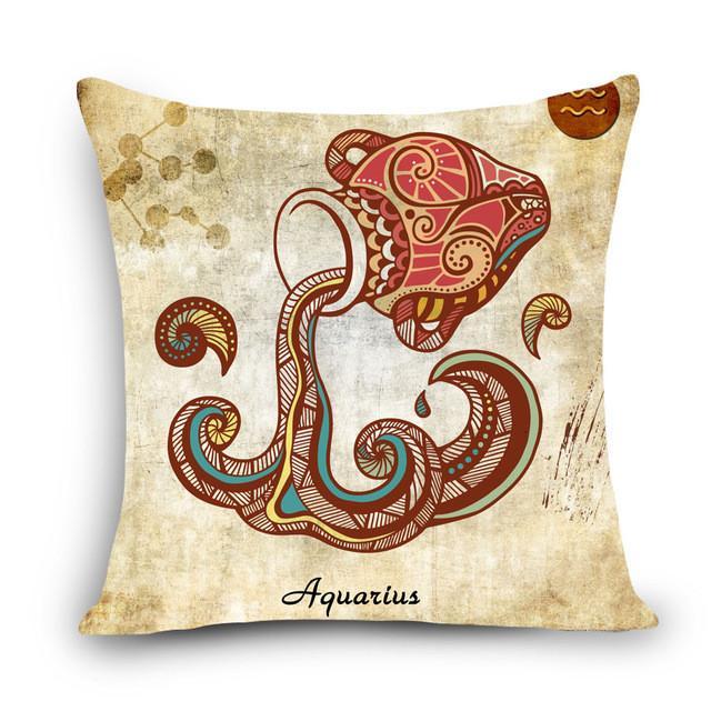 Zodiac Sign Pillow Cover Pillows Throw Pillows Pillow Covers