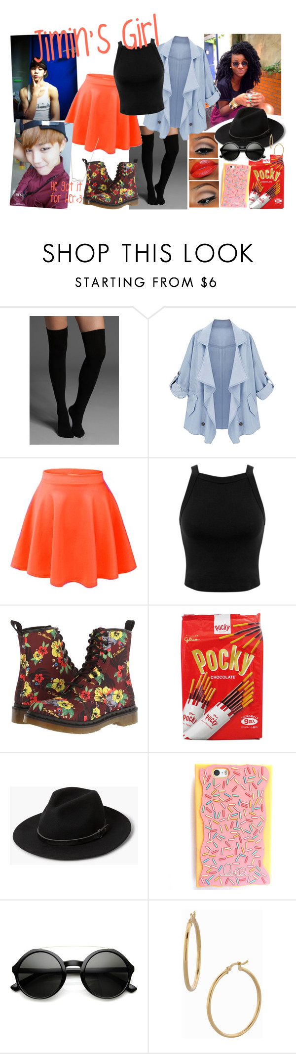 """The Mrs.:Jimin's Girl"" by hallaib4zari ❤ liked on Polyvore featuring Plush, Miss Selfridge, Dr. Martens, MANGO, Bony Levy, kpop, bts, BangtanBoys and jimin"