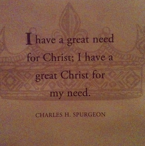 Christ>my need