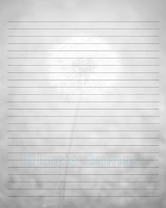 digital printable journal writing lined page photo 31 dandelion