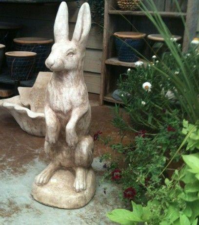 Concrete Friendswood Hardware Rabbit Garden Garden Statues Concrete Garden