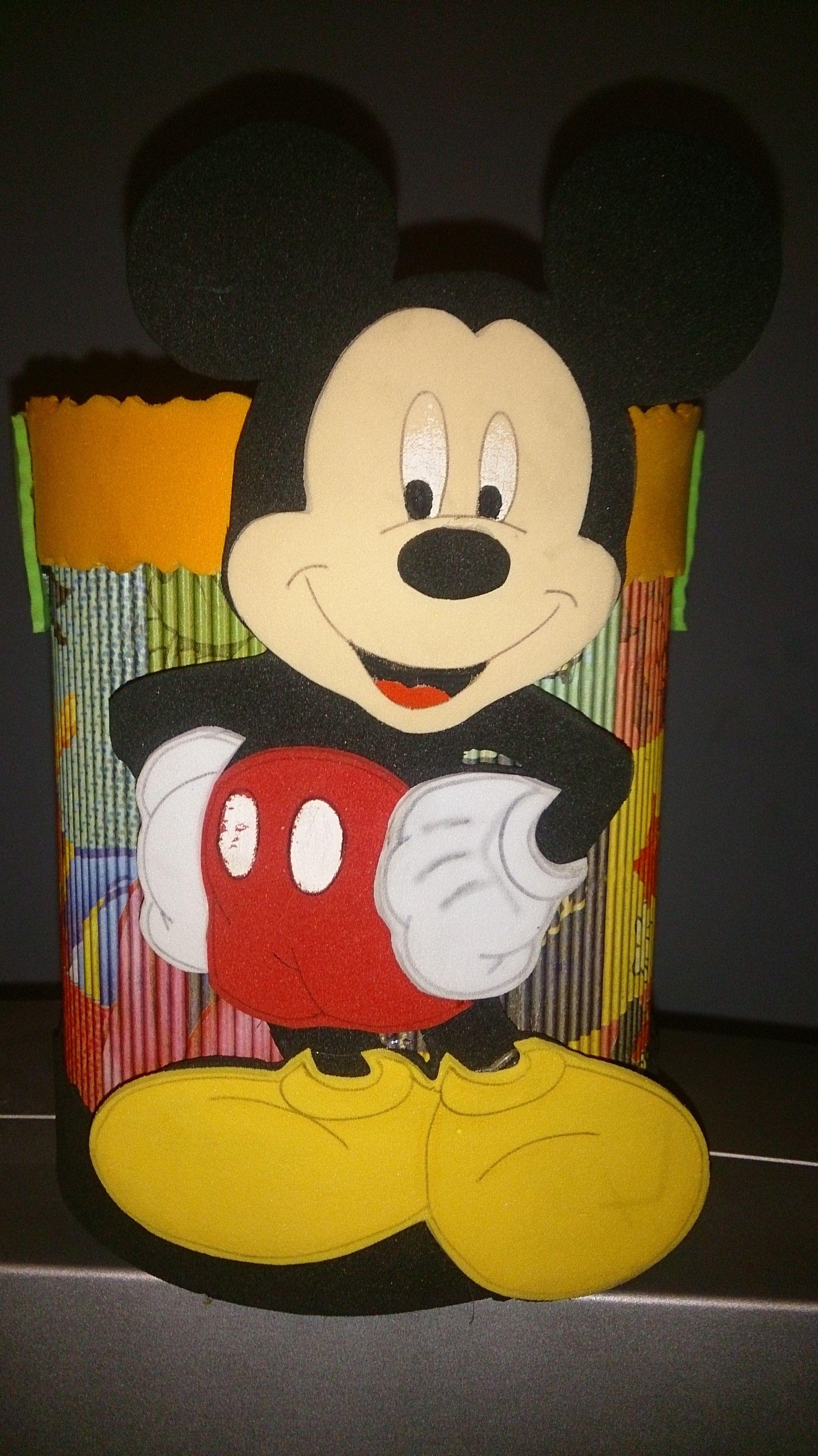 Dulcero de Mickey Mouse para cumpleaños, hecho de lata de leche ...