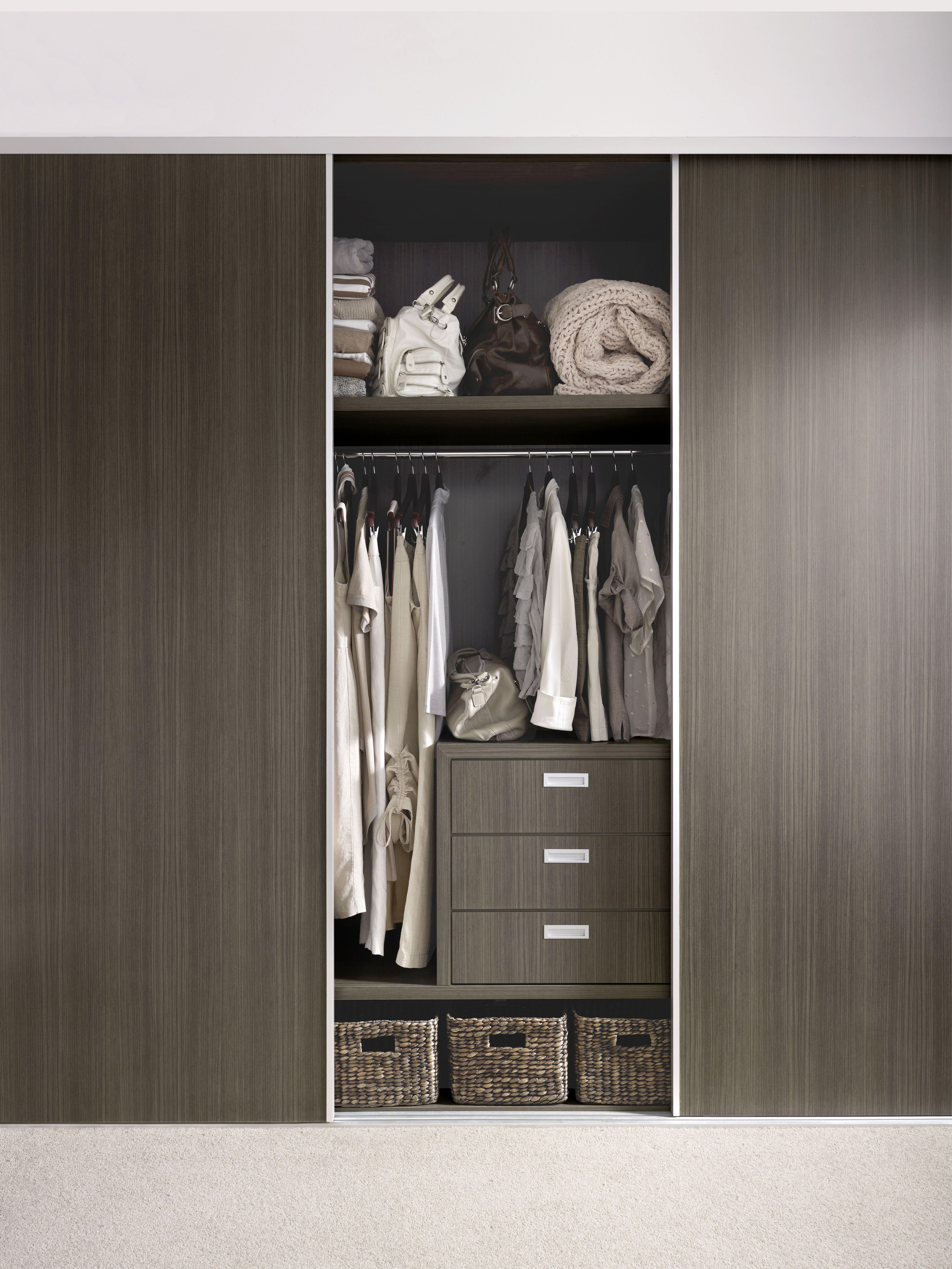 Wardrobe doors and drawers Formica Charred Oak. Bathroom ...