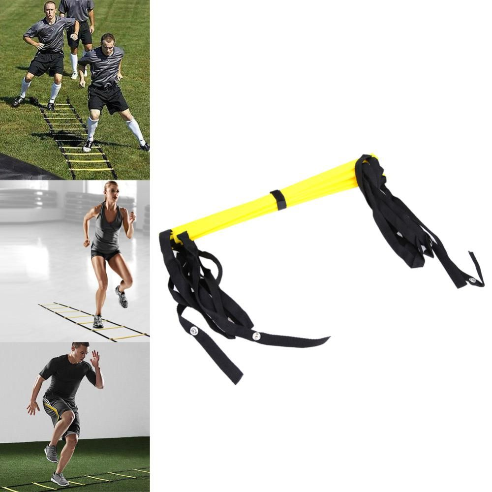 5 Rung 10 Feet 3m Agility Ladder For Soccer Speed Football Fitness Feet Training Yellow Soccer Train Football Workouts Soccer Training Equipment Agility Ladder
