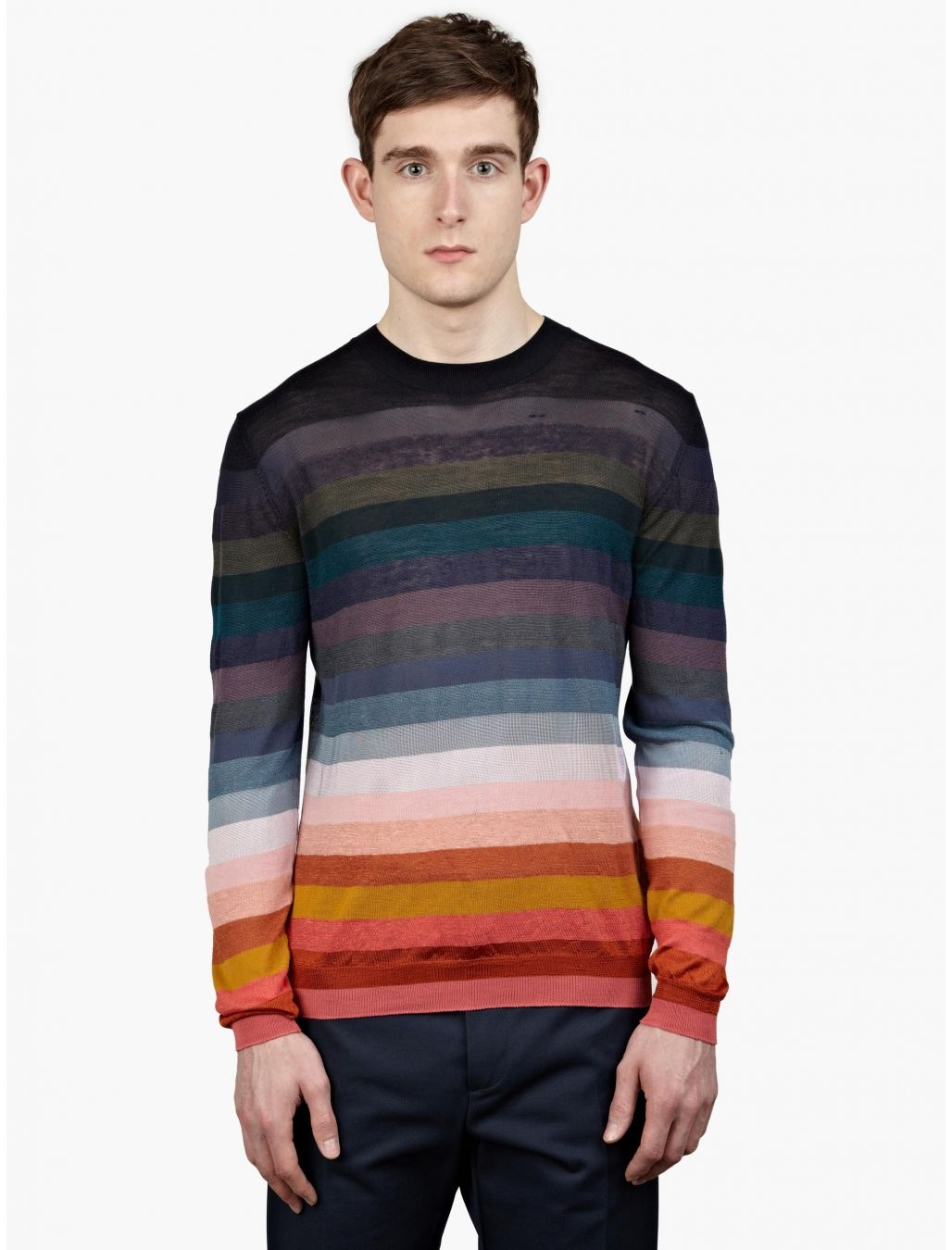 Paul Smith Men's Striped Fine-Knit Sweater | oki-ni