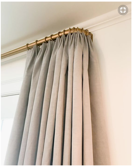 Gold French Return Curtain Rods Home Ideas