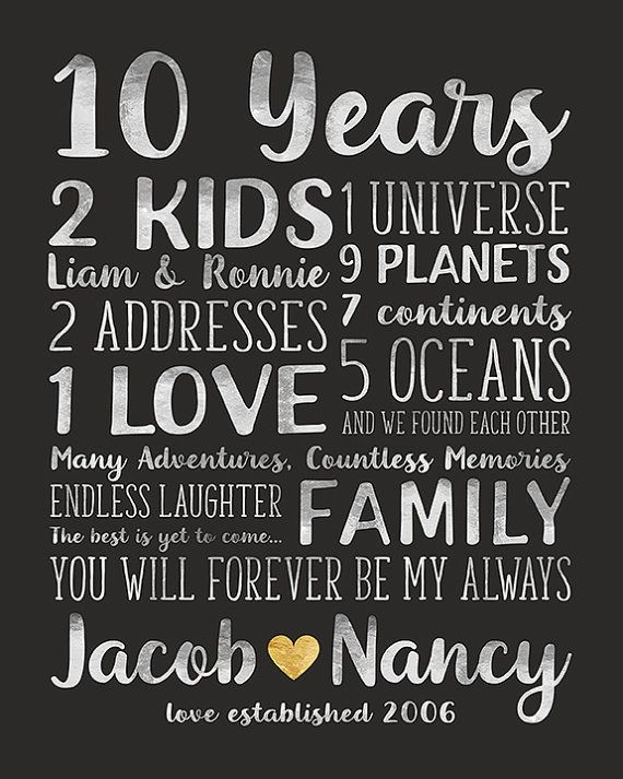 Anniversary Gift For Husband And Wife Relationships Dating Marriage Wedding Universe Love Gift 10th Anniversary For Her Him Wf409 In 2020 Anniversary Gifts For Husband 10 Year Anniversary Gift Anniversary Quotes For Wife