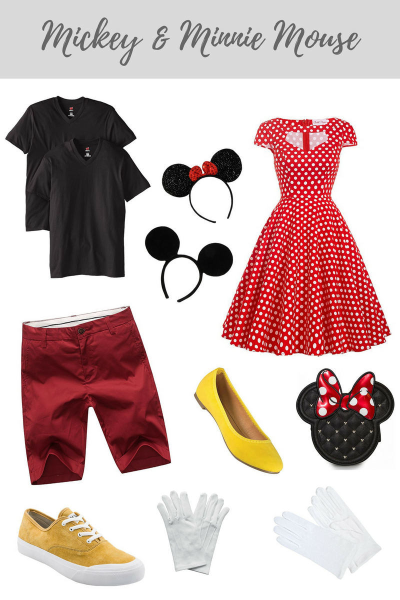 Mickey & Minnie Mouse Halloween Costume for couples. All