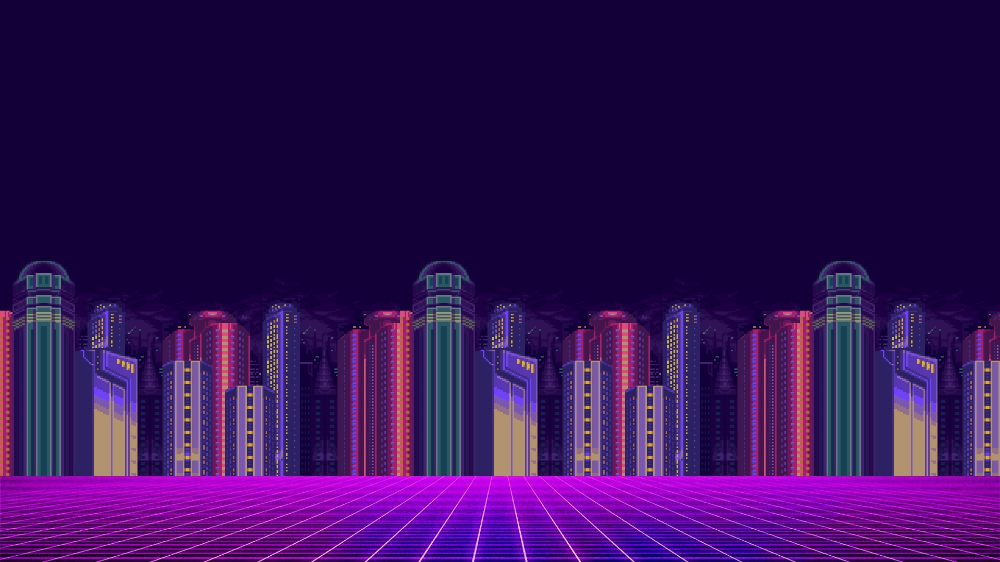 1366x768 Synthwave 8 Bit Pixel Cityscape 1366x768 Resolution Wallpaper Hd Artist 4k Wallpapers Images Photos And Hd Wallpaper Cityscape Wallpaper Cityscape
