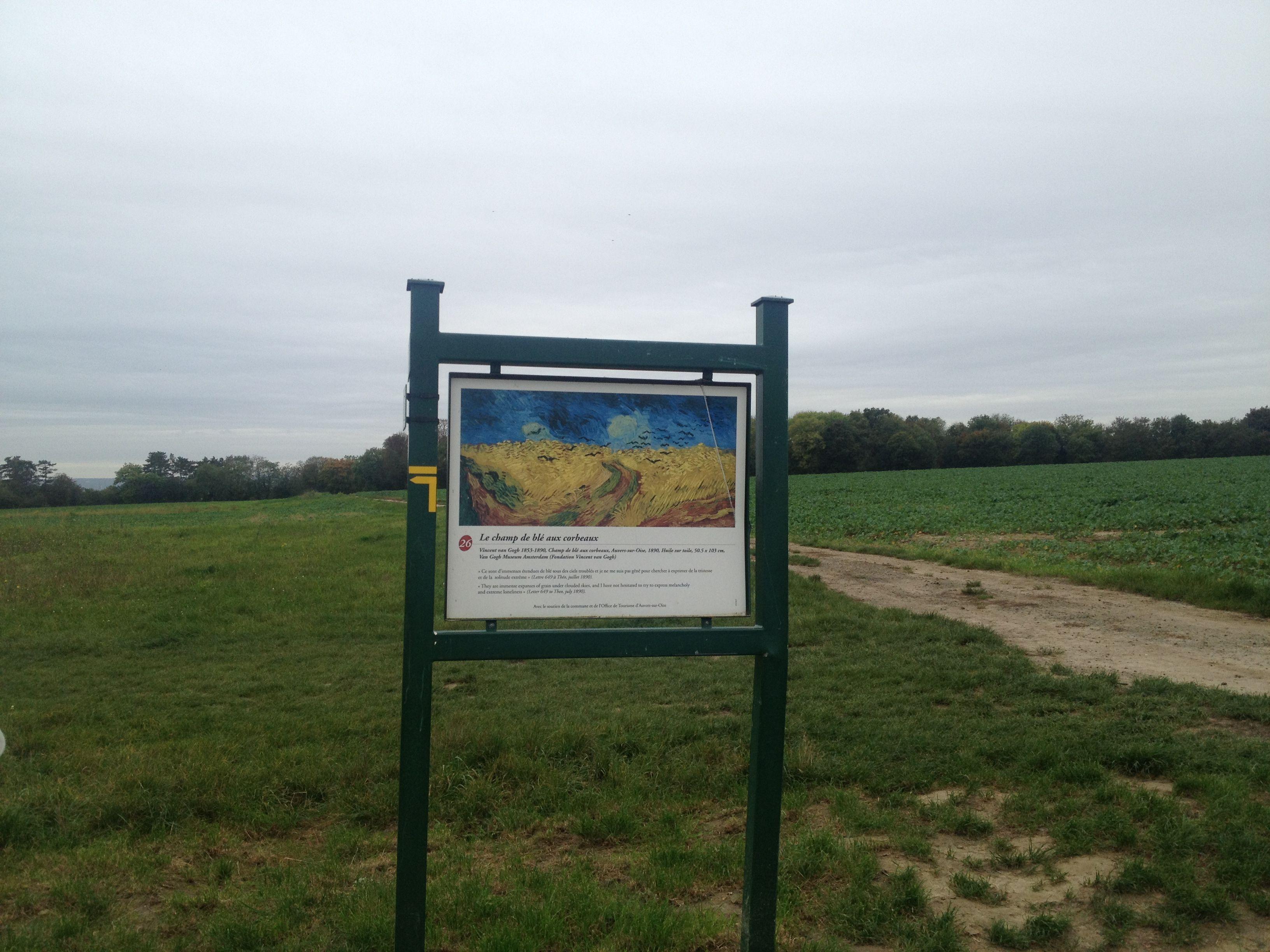 Conflans-Saint-Honorine Village -Vincent Van Gogh's Footsteps/France. Cimetière d'Auvers-Sur-Oise /France. Photo 2014