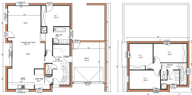 Plan De Maison Moderne Gratuit A Telecharger Design De Maison Plan De Maison Moderne Gratuit A Telecharger 1370 X 682 Pixel Floor Plans How To Plan House Plans