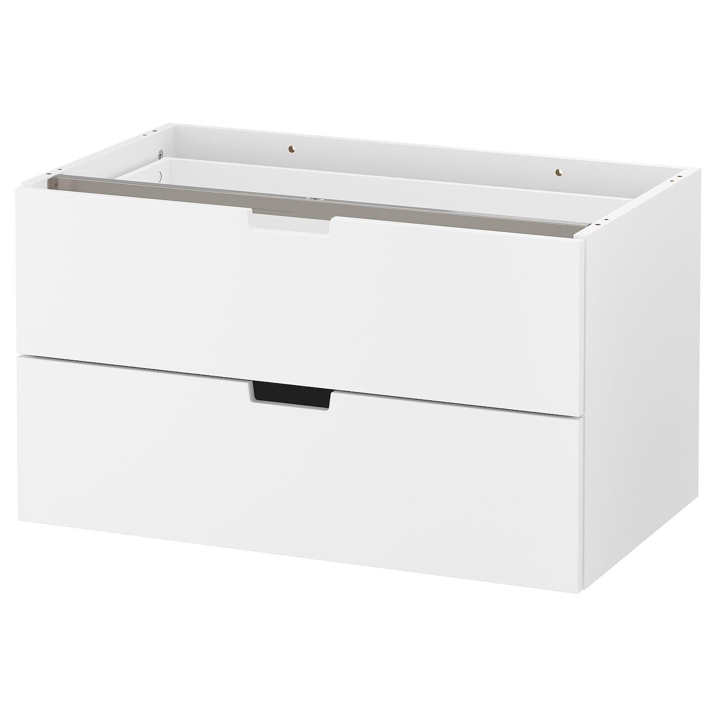 Nordli Commode Modulable 2 Tir Blanc 80x45 Cm Ikea Solutions De Rangement Idee Douche
