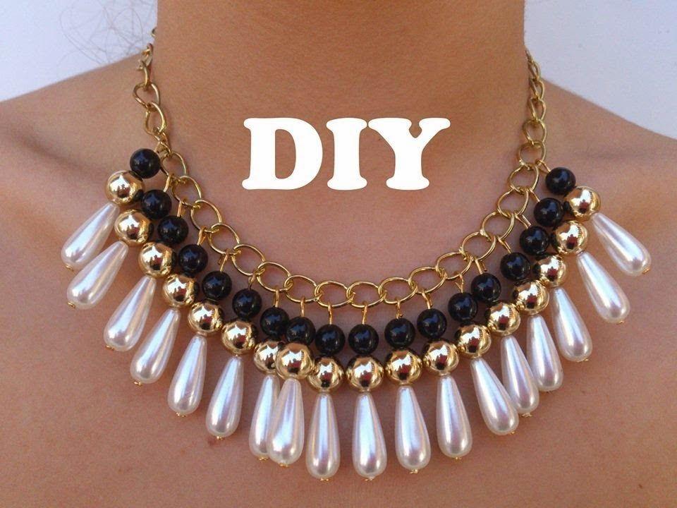 Collar De Perlas Y Lagrimas Perlas Un Hermoso Accesorio Que Puedes Combinar Con Cualquier Estilo De Ropa Puedes Des Diy Necklace Diy Necklace Collar Necklace
