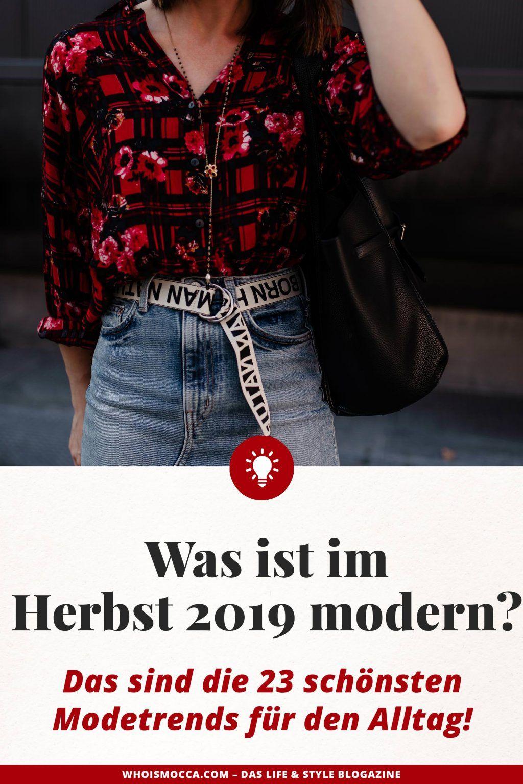 Was ist im Herbst 2019 modern? 23 schöne Modetrends für den Alltag!