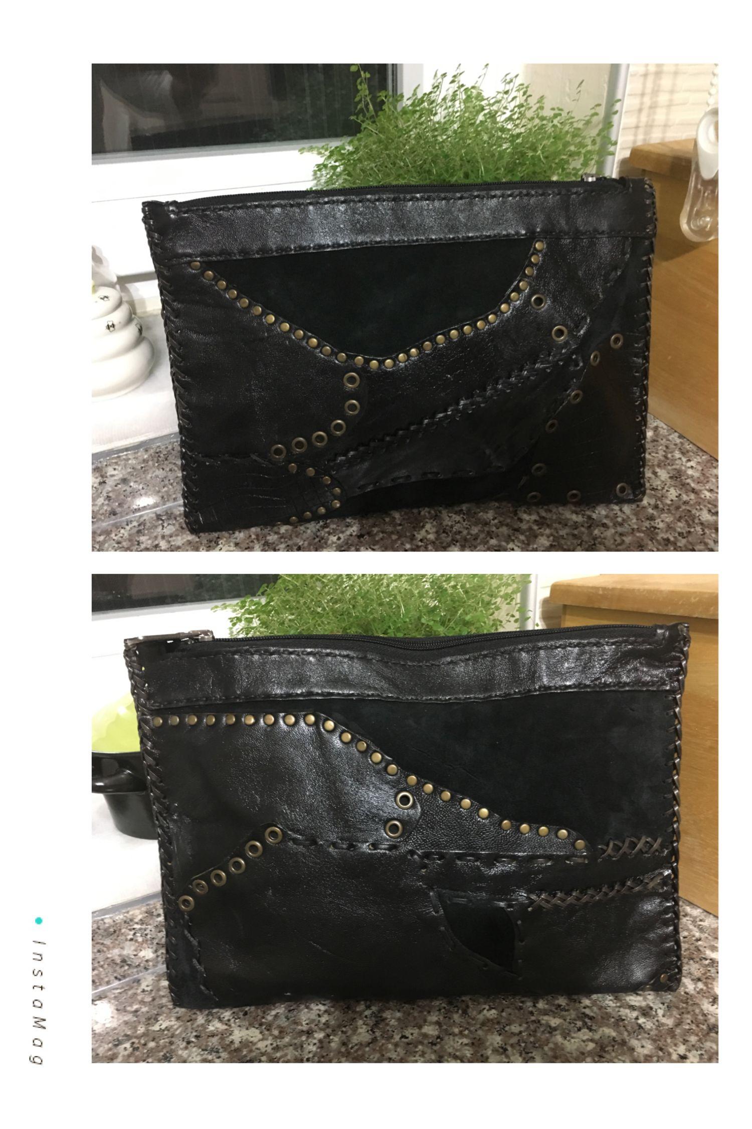 Photo of El yapımı deri çanta, deri ve süet buluşması, crazy bag, kırkyama, packwo…