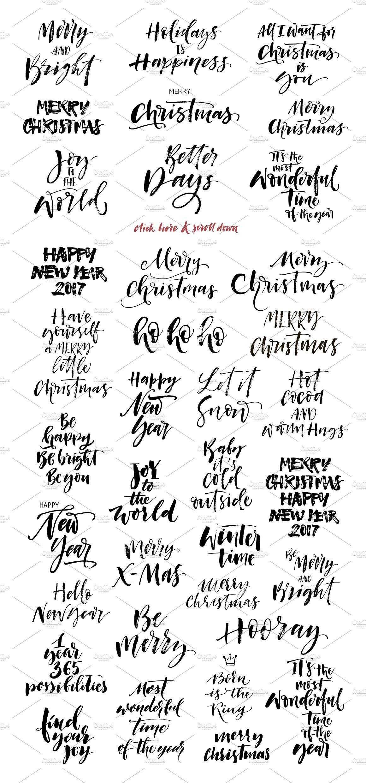 Big bundle of Christmas phrases.