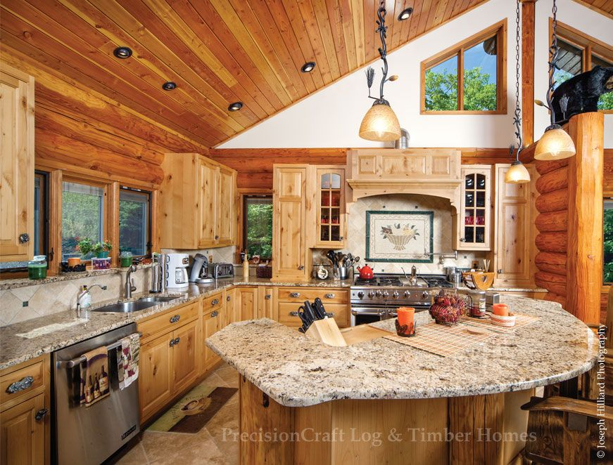 log home Kitchen CAMP in 2018 Pinterest Home, Log home
