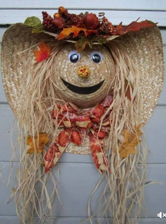 Scarecrow Wreath #scarecrowwreath