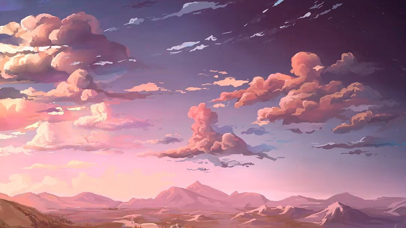 Pink Anime Aesthetic Wallpaper Wallpaper For Desktop Laptop Aq83 Nature Anime Art Sea Desktop Wallpaper Art Aesthetic Desktop Wallpaper Macbook Air Wallpaper