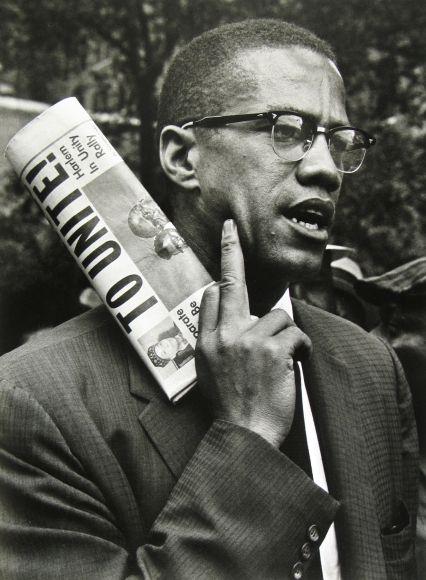 Adelman Bob Malcolm X At Civil Right Demonstration Brooklyn New York City 1963 Black History Fact Leaders Dissertation