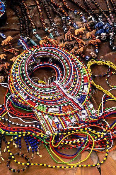 Native crafts at the Masai Mara National Reserve in Kenya