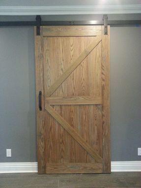 Custom Made Distressed Red Oak Barn Door Slider Barn Door