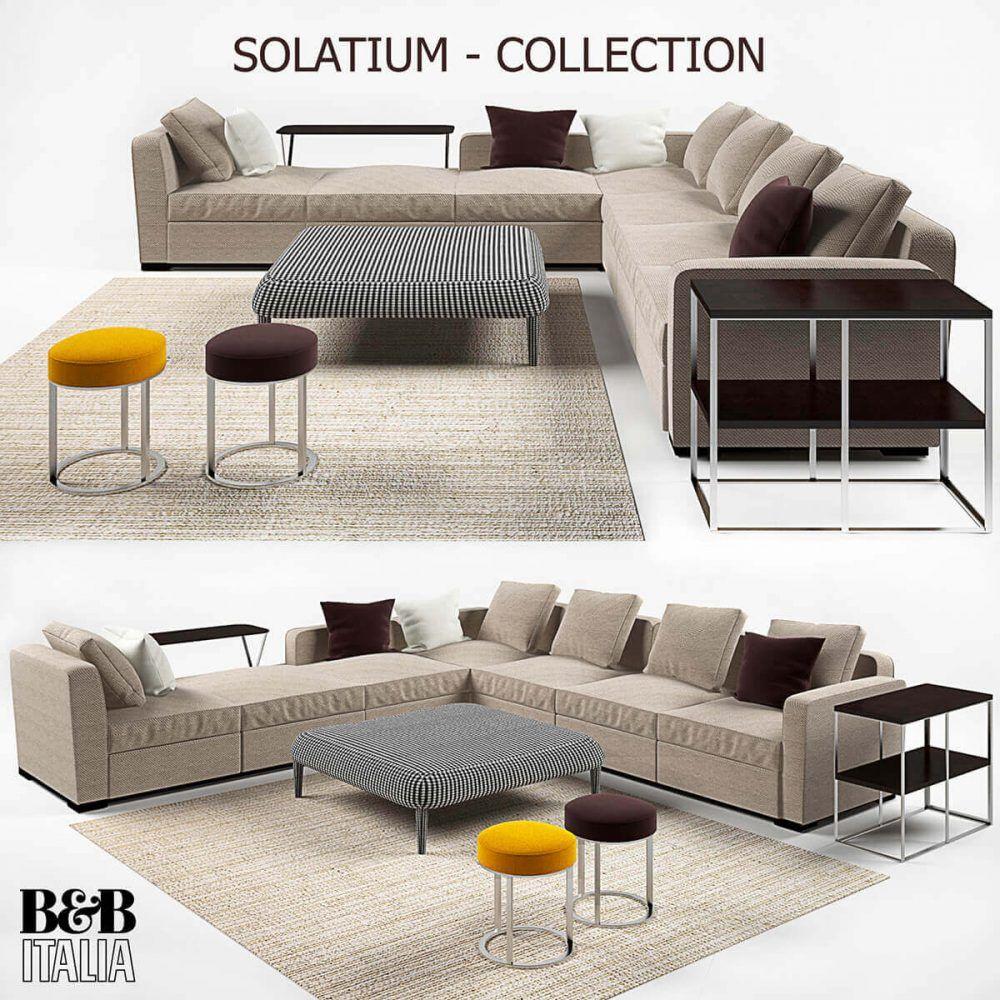 B&B Italia Solatium Sofa 3D Model for Download   CGSouq ...