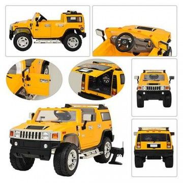 2015 Licensed Hummer H2 12v Ride On Car With Remote Control Yellow