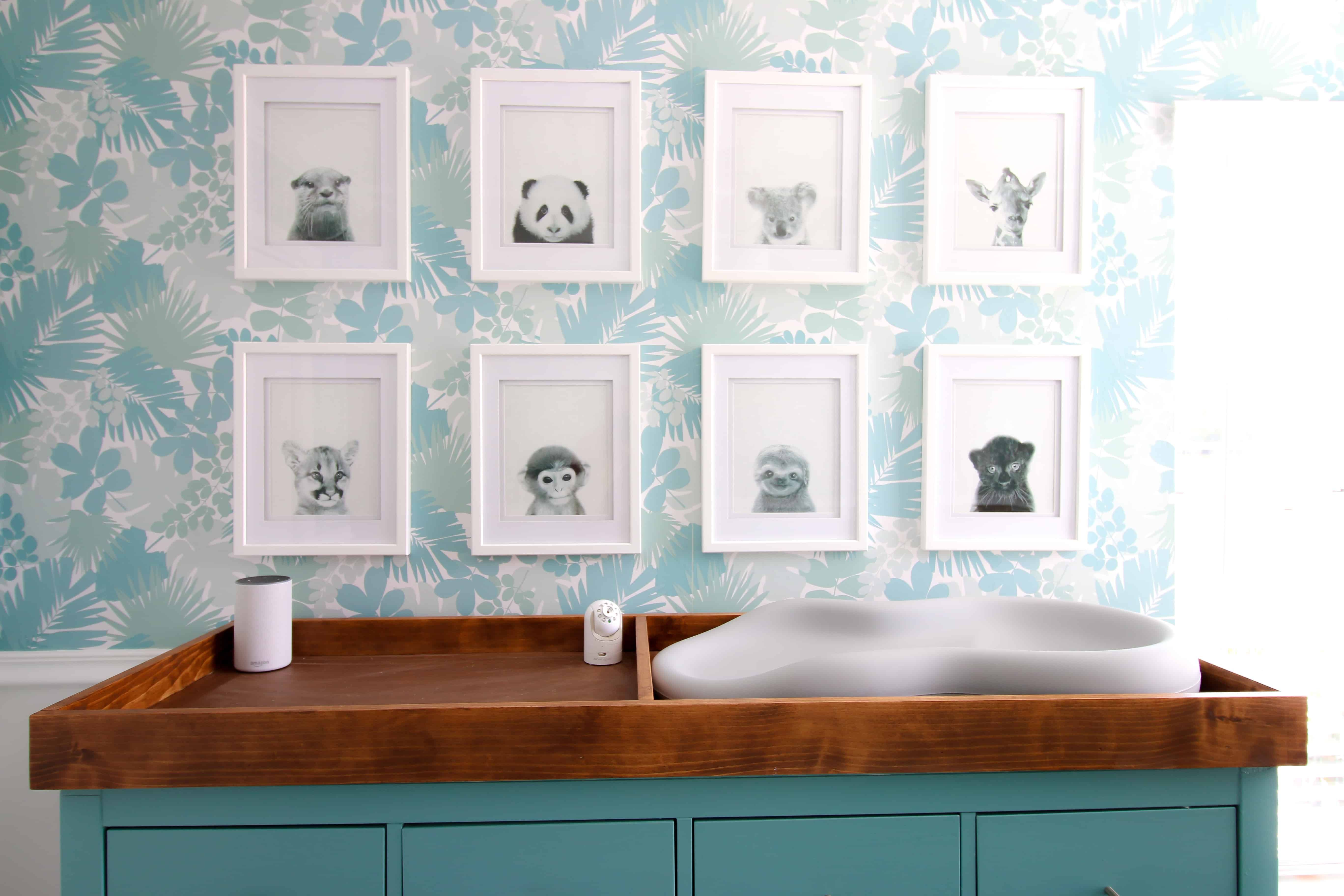 Baby Animal Gallery Wall Blogger decor, Gallery wall