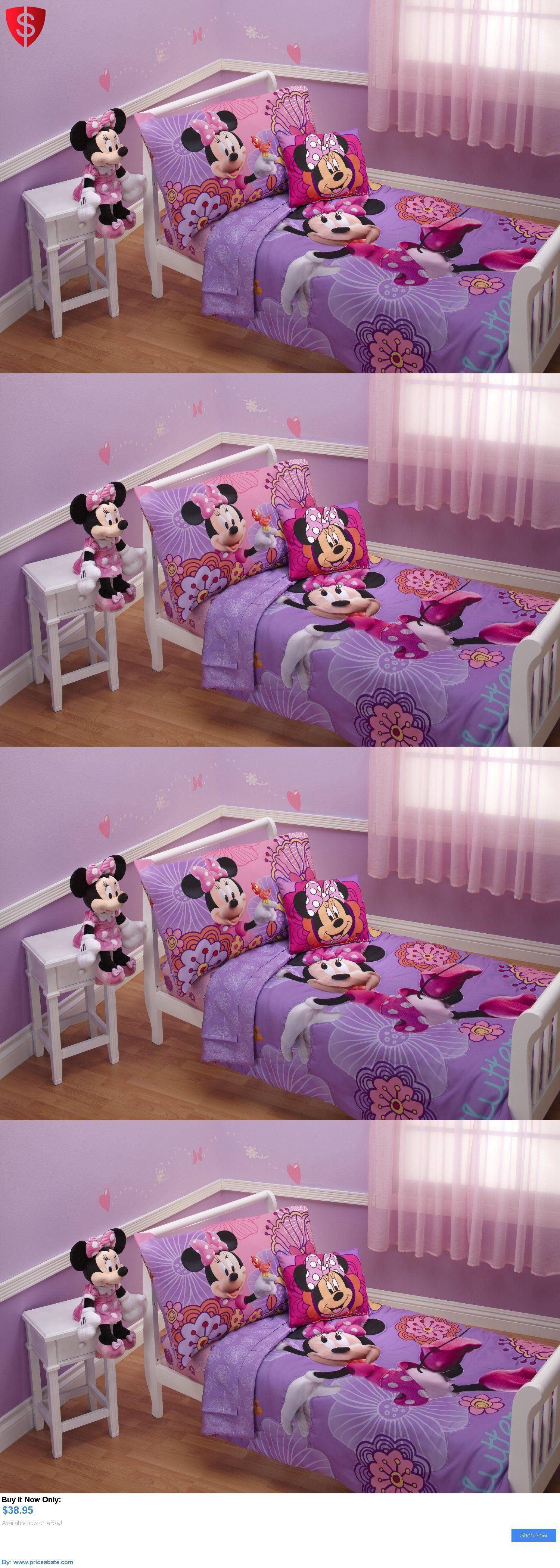 Kids Bedding 4 Piece Minnie Mouse Disney Bedding Set Girls