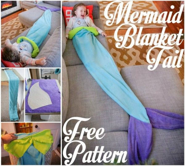 Mermaid Tail Blanket - Free Pattern | DIY Tag