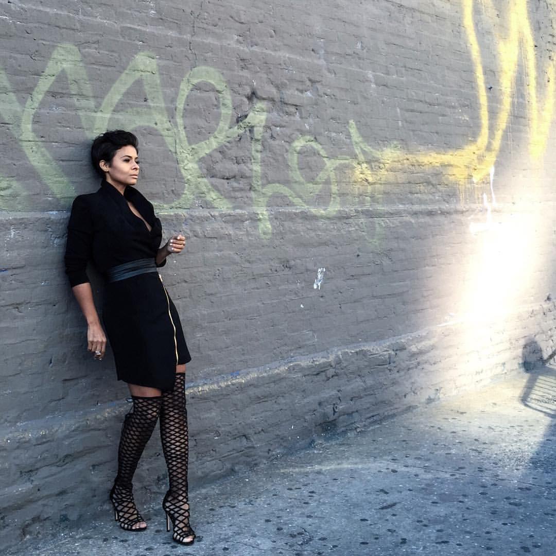 "Kyrzayda Rodriguez ~ on Instagram: ""Black my first love wearing @schutzshoes   @thugnanny_   #schutzshoes #655madison"""